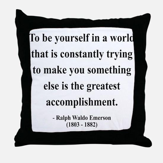Ralph Waldo Emerson 4 Throw Pillow