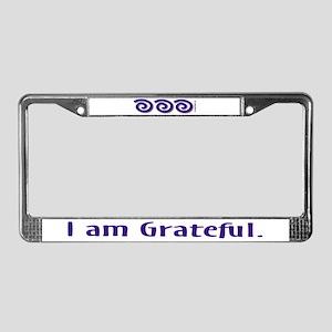 I Am Grateful License Plate Frame