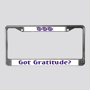 Got Gratitude License Plate Frame