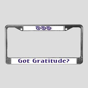 Got Gratitude License Plate Frame