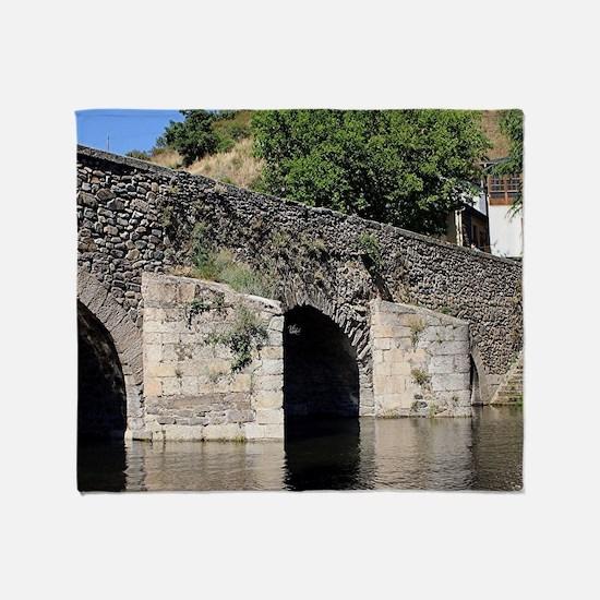 Roman Bridge, El Camino, Molinaseca, Throw Blanket