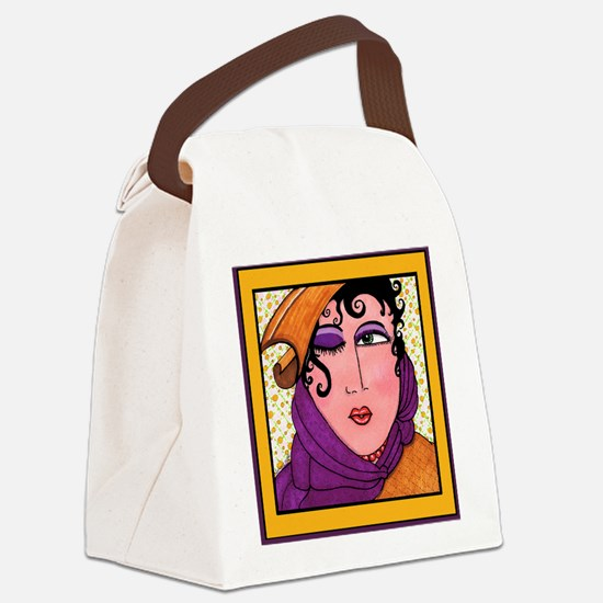 Wink & A Smile Canvas Lunch Bag