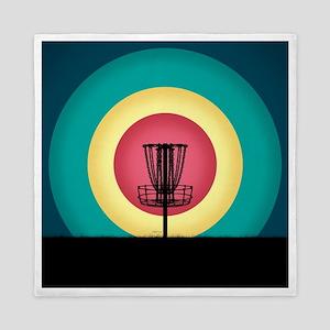 Disc Golf Basket Silhouette Queen Duvet