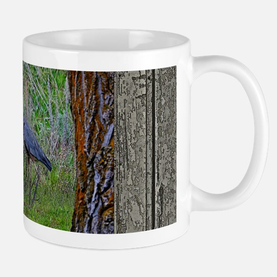 Old Cabin Window blue heron Mug