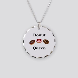 Donut Queen Necklace Circle Charm