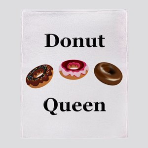 Donut Queen Throw Blanket