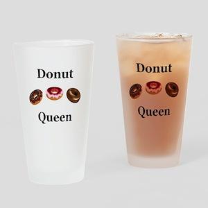 Donut Queen Drinking Glass