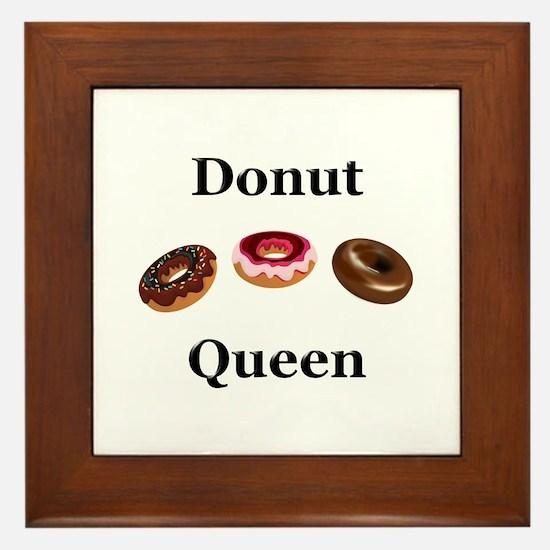 Donut Queen Framed Tile