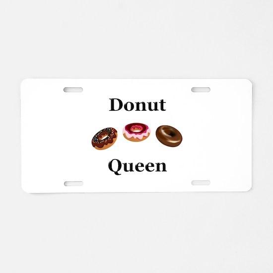 Donut Queen Aluminum License Plate