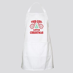 THIS GIRL LOVES CHRISTMAS Apron