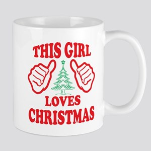 THIS GIRL LOVES CHRISTMAS Mugs