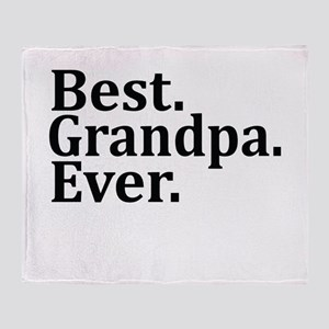 BEST GRANDPA EVER Throw Blanket