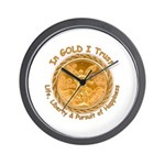 Mex Gold w/English motto on Wall Clock