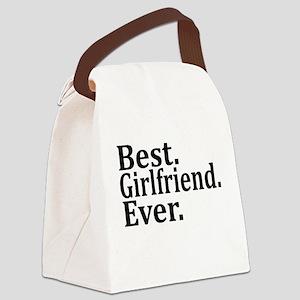 Best Girlfriend Ever. Canvas Lunch Bag