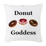 Donut Goddess Woven Throw Pillow