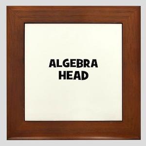 Algebra Head Framed Tile