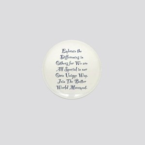 Embrace the Differences Mini Button
