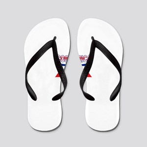 Costa Rica Flag Ribbon Flip Flops