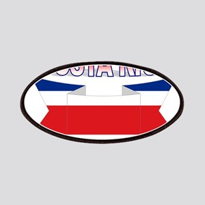 Costa Rica Flag Ribbon Patches