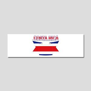 Costa Rica Flag Ribbon Car Magnet 10 x 3