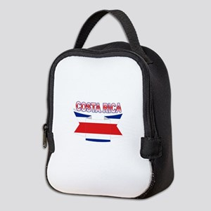 Costa Rica Flag Ribbon Neoprene Lunch Bag