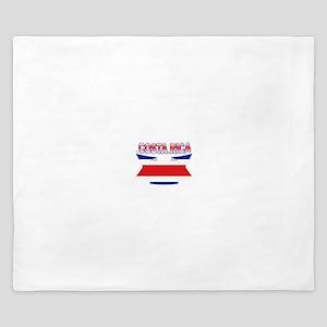 Costa Rica Flag Ribbon King Duvet