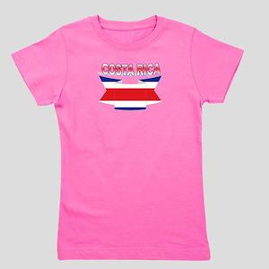 Costa Rica Flag Ribbon Girl's Tee