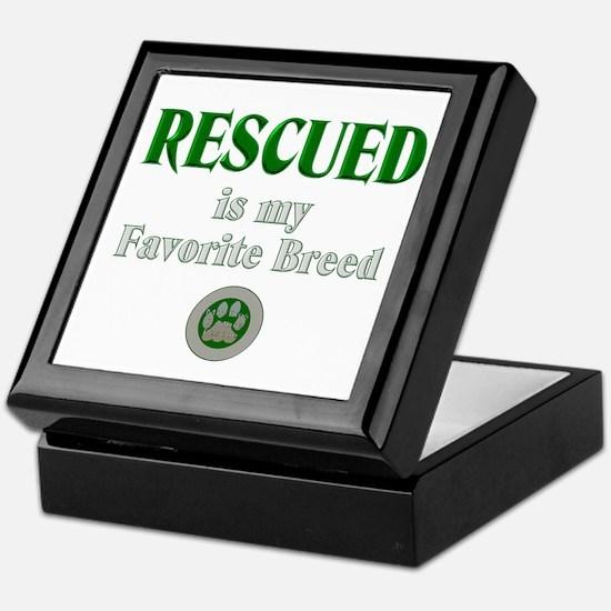 Rescued is my Favorite Breed Keepsake Box