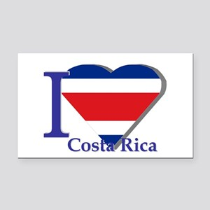 I love Costa Rica Rectangle Car Magnet