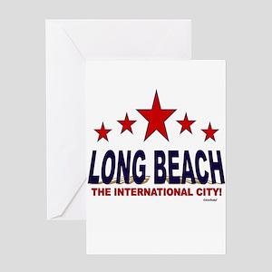 Long Beach The International City Greeting Card