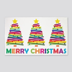 Colorful Christmas Tree Area Rug