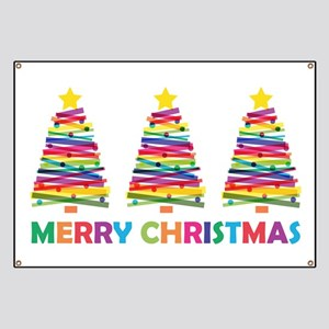 Colorful Christmas Tree Banner