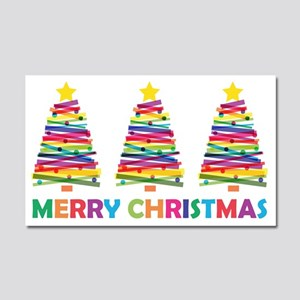 Colorful Christmas Tree Car Magnet 20 x 12