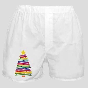 Colorful Christmas Tree Boxer Shorts