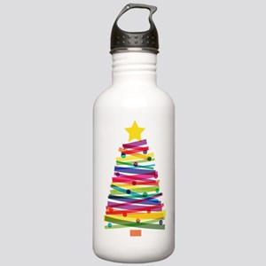 Colorful Christmas Tre Stainless Water Bottle 1.0L