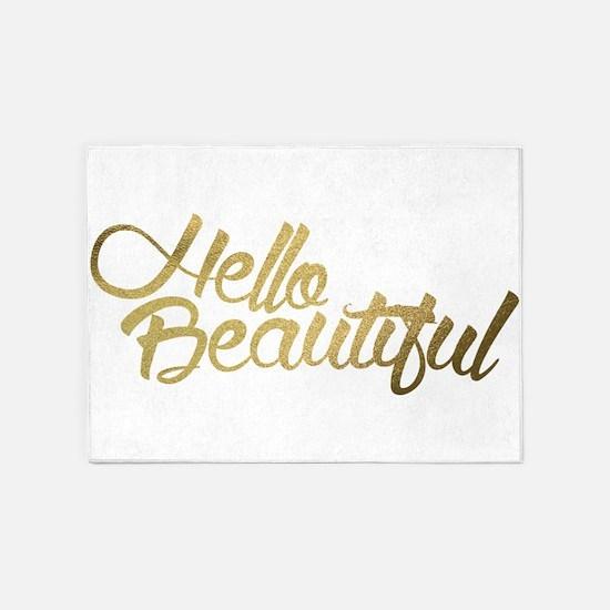 Hello Beautiful 5'x7'Area Rug