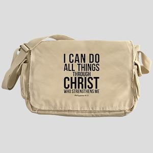 Philippians 4:13 Messenger Bag