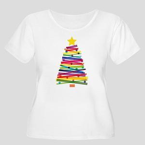Colorful Christmas Tree Plus Size T-Shirt