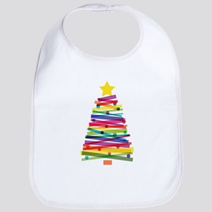 Colorful Christmas Tree Bib