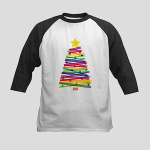 Colorful Christmas Tree Baseball Jersey