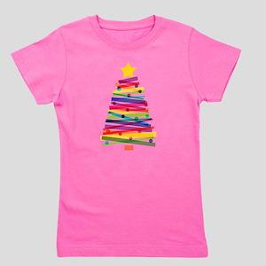 Colorful Christmas Tree Girl's Tee