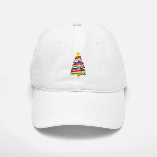 Colorful Christmas Tree Baseball Baseball Cap