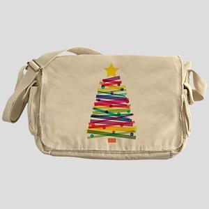Colorful Christmas Tree Messenger Bag