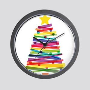 Colorful Christmas Tree Wall Clock