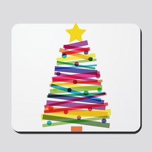 Colorful Christmas Tree Mousepad