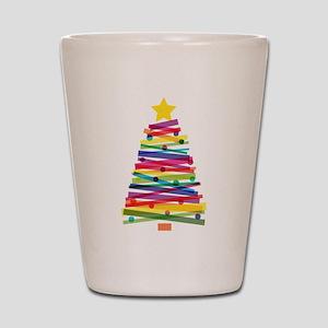 Colorful Christmas Tree Shot Glass