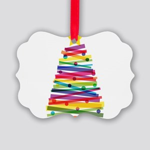 Colorful Christmas Tree Picture Ornament
