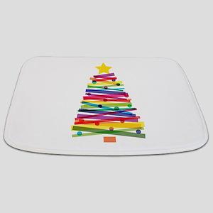 Colorful Christmas Tree Bathmat