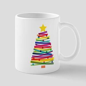 Colorful Christmas Tree Mugs