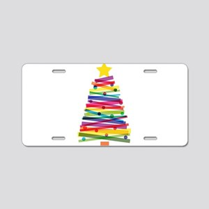 Colorful Christmas Tree Aluminum License Plate